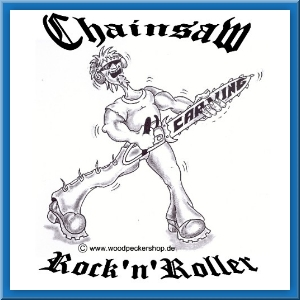 Aufkleber Chainsaw Rock n Roller