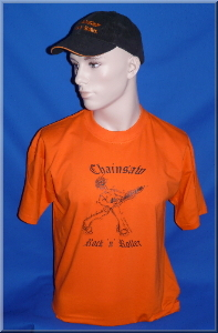 T-Shirt Chainsaw Rock n Roller orange