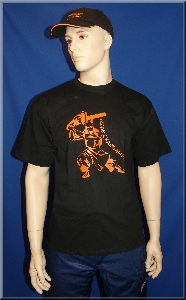 T-Shirt Chainsaw Samurai orange